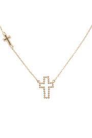 Riah Fashion Ball-Texture-Cross-Necklace - Product Mini Image