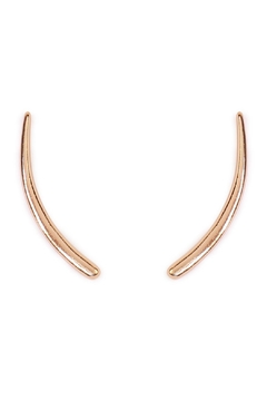 Riah Fashion Bar Curved Crawler Earring - Product List Image