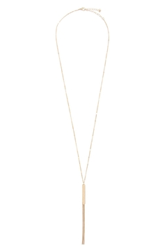 Riah Fashion Bar Long Necklace With Tassel - Alternate List Image