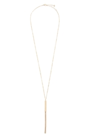 Riah Fashion Bar Long Necklace With Tassel - Front full body