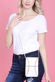 Riah Fashion Baseball Cellphone-Crossbody-With-Clear-Window-Pouch - Back cropped