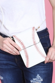 Riah Fashion Baseball Cellphone-Crossbody-With-Clear-Window-Pouch - Other