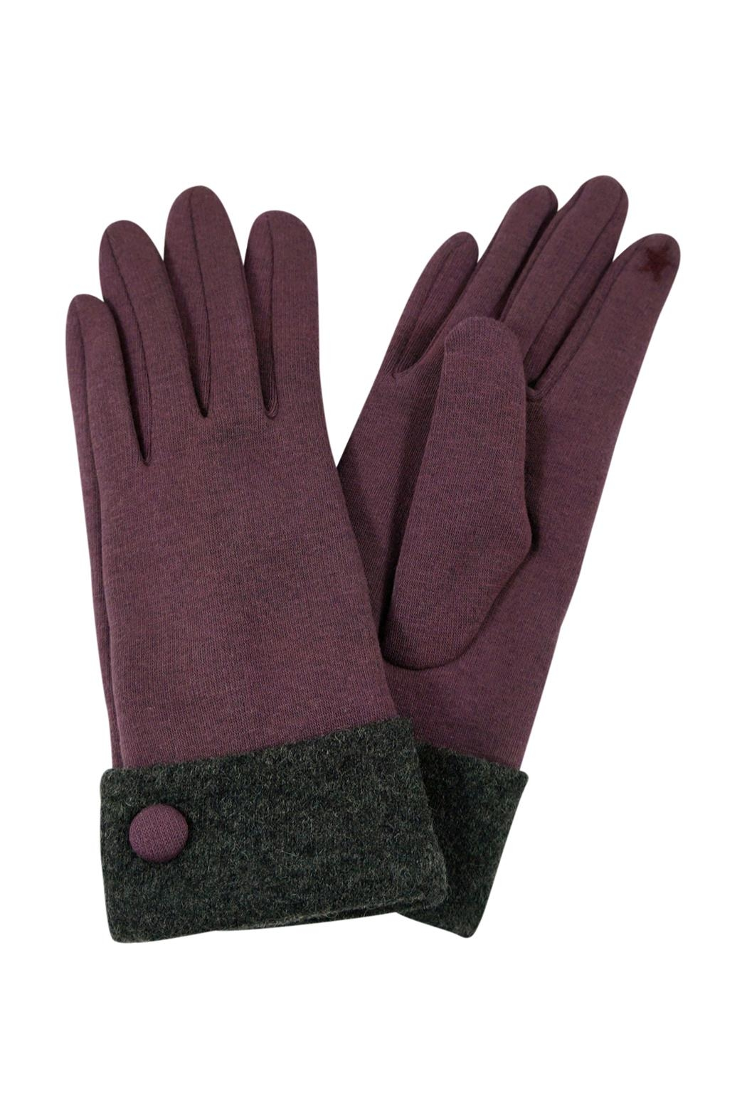 Riah Fashion Basic Smart-Touch Gloves - Front Cropped Image