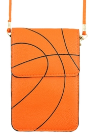 Riah Fashion Basketball Cellphone-Crossbody With-Clear-Window - Product Mini Image