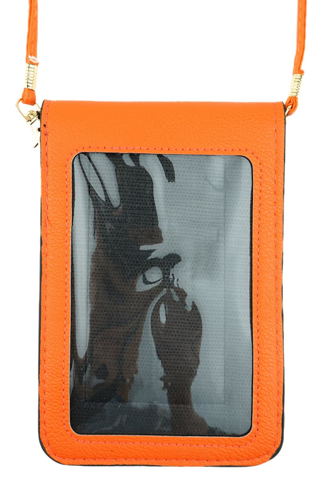 Riah Fashion Basketball Cellphone-Crossbody With-Clear-Window - Front Full Image