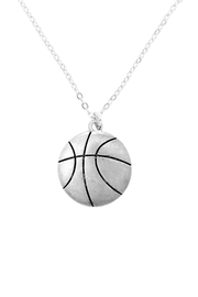 Riah Fashion Basketball-Pendant-With-Message-On-Back-Necklace - Product Mini Image
