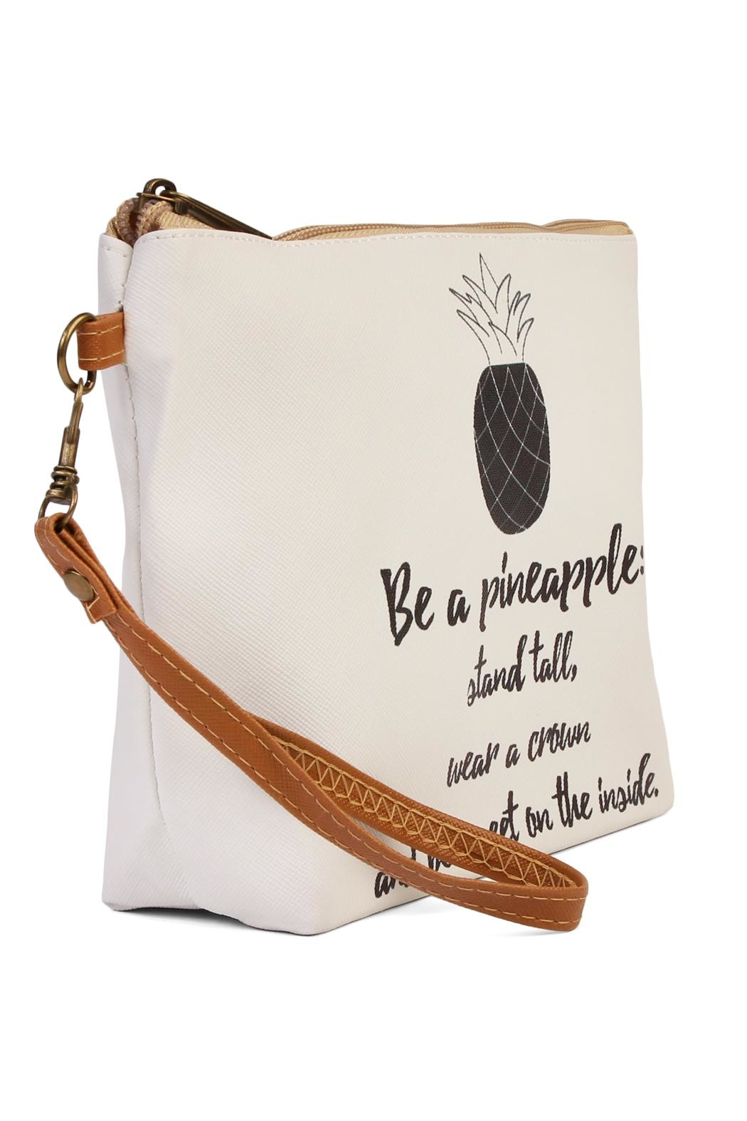 Riah Fashion Be A Pineapple Bag - Front Full Image