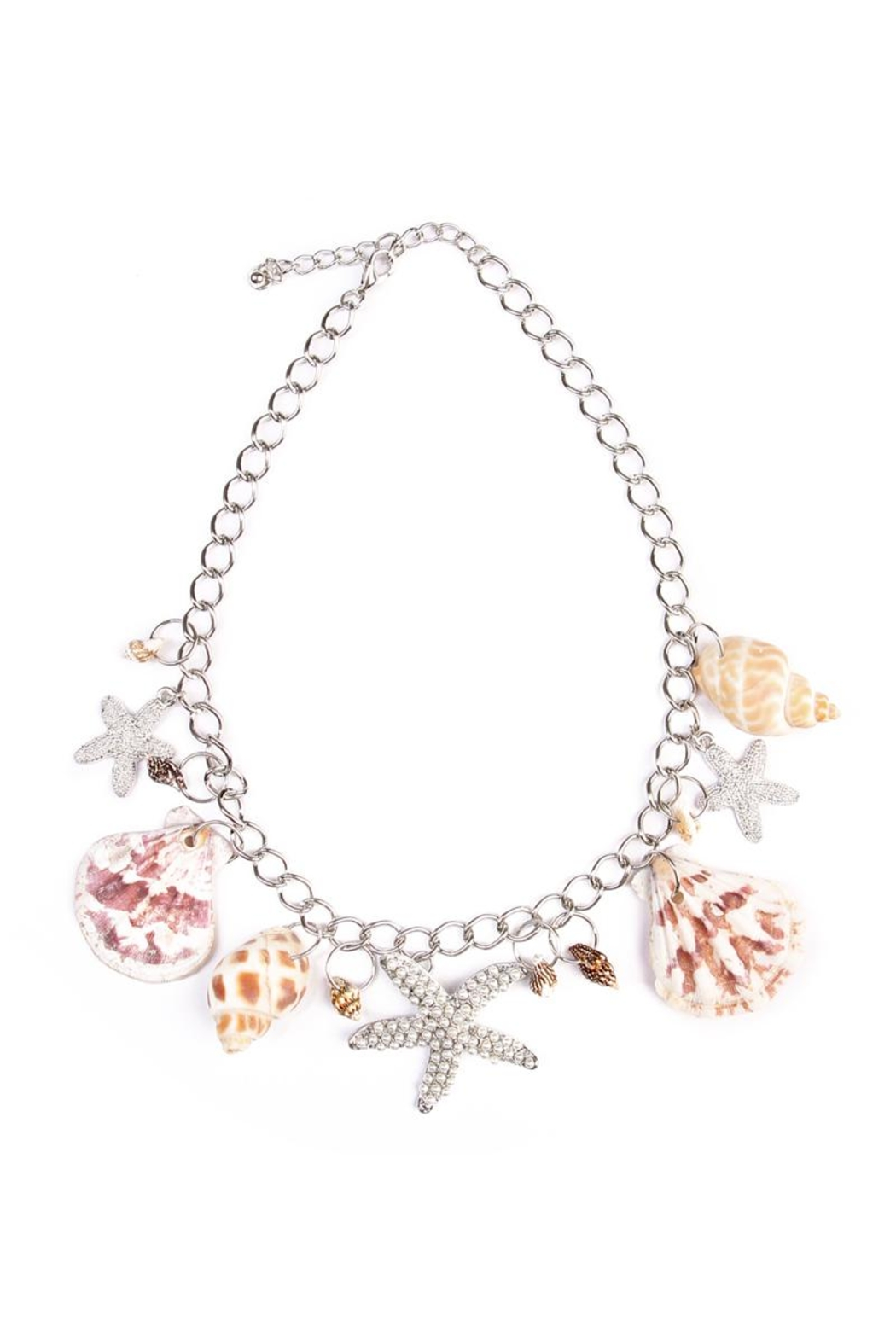 Riah Fashion Beach Charm Necklace - Front Cropped Image