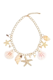 Riah Fashion Beach Charm Necklace - Product Mini Image