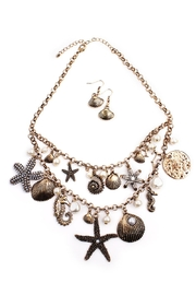 Riah Fashion Beachside Statement Necklace Gold - Product Mini Image