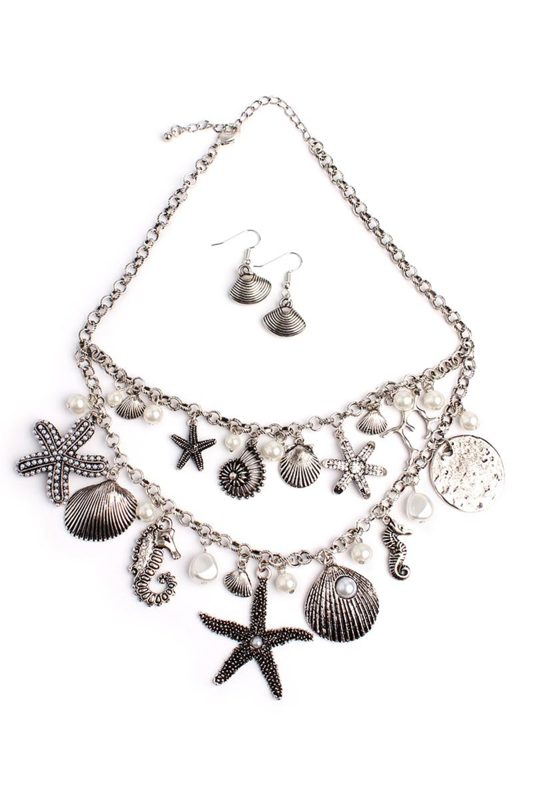 Riah Fashion Beachside Statement Necklace - Main Image