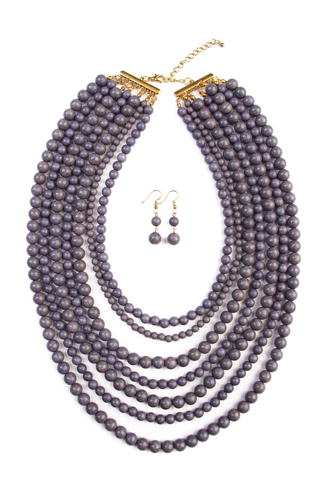 Riah Fashion Bead Strand Necklace Set - Main Image