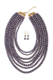 Riah Fashion Bead Strand Necklace Set - Front cropped