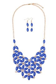 Riah Fashion Beaded Necklace Earring Set - Product Mini Image