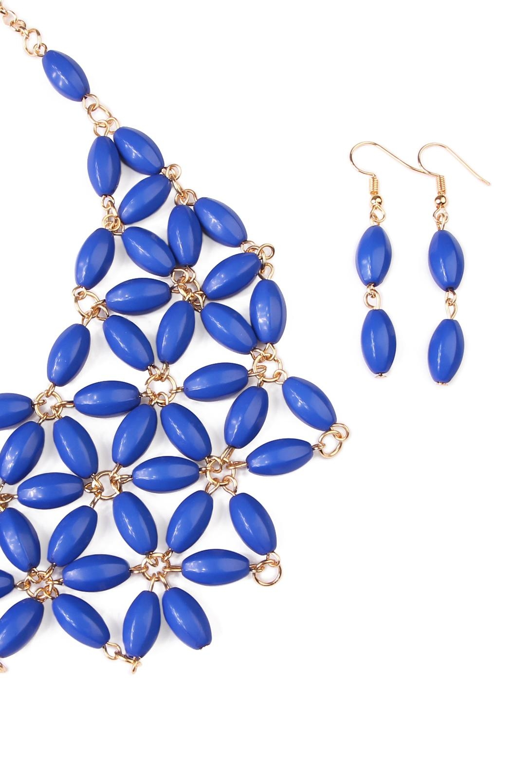 Riah Fashion Beaded Necklace Earring Set - Front Full Image