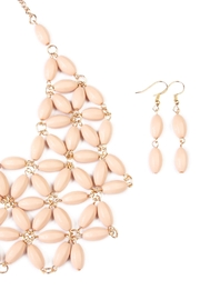 Riah Fashion Beaded Necklace Earring Set - Front full body