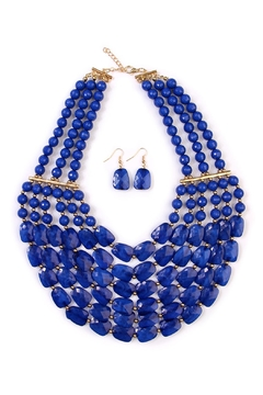 Shoptiques Product: Beaded Necklace Earring Set