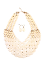 Riah Fashion Beaded Necklace Earring Set - Front cropped