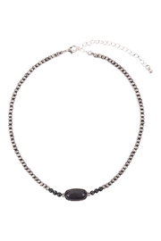 Riah Fashion Beaded-Oval-Natural-Stone-Necklace - Other