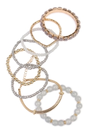 Riah Fashion Beaded Stretch Bracelet - Front full body