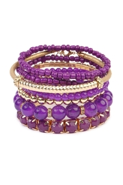 Riah Fashion Beaded Stretch Bracelet - Front cropped