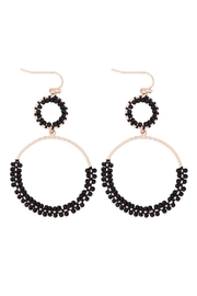 Riah Fashion Beaded-Wrap-Texture-Link-Hoop-Earrings - Product Mini Image