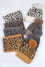 Riah Fashion Beanies-&-Headwrap-Leopard-Knit-Assorted - Front full body