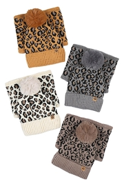 Riah Fashion Beanies-&-Headwrap-Leopard-Knit-Assorted - Front cropped