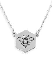 Riah Fashion Bee-Stamping-Pendant Necklace - Product Mini Image