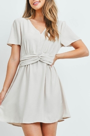 Riah Fashion Beige Dress - Front cropped