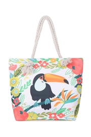Riah Fashion Bird-Floral Tote Bag - Front cropped