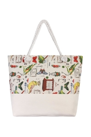 Riah Fashion Bird Print Tote - Product Mini Image