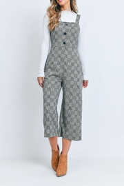 Riah Fashion Black-Checkered-Jumpsuit - Side cropped