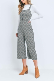 Riah Fashion Black-Checkered-Jumpsuit - Back cropped