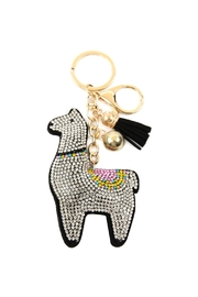 Riah Fashion Black Llama Keychain - Product Mini Image