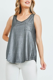 Riah Fashion Black-Silver-With-Shimmer-Top - Product Mini Image