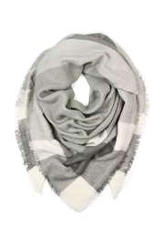 Riah Fashion Blanket Fringed Scarf - Front cropped