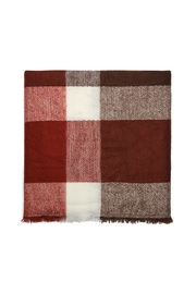 Riah Fashion Blanket Fringed Scarf - Front full body