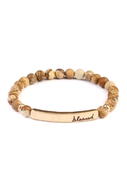 Riah Fashion Blessed-Bar Natural-Stone Bracelet - Product Mini Image