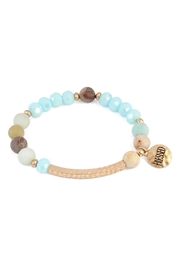 Riah Fashion Blessed-Charm Natural Stone-Bracelelt - Product Mini Image