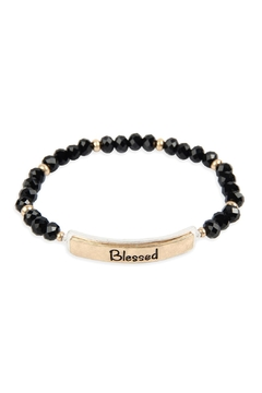 Riah Fashion Blessed Glass Beads Stretch Bracelet - Product List Image