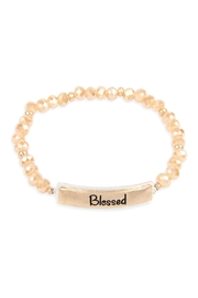 Riah Fashion Blessed Glass Beads Stretch Bracelet - Product Mini Image