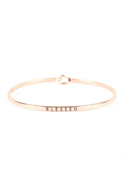 Riah Fashion Blessed-Hinge Cuff Bracelet - Product Mini Image