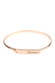 Riah Fashion Blessed-Hinge Plated Bracelet - Front cropped