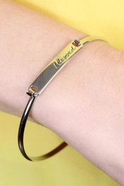 Riah Fashion Blessed-Hinge Plated Bracelet - Side cropped