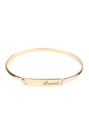 Riah Fashion Blessed-Hinge Plated Bracelet - Product Mini Image