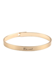 Riah Fashion Blessed-Inspiration Metal-Cuff-Bracelet - Front cropped