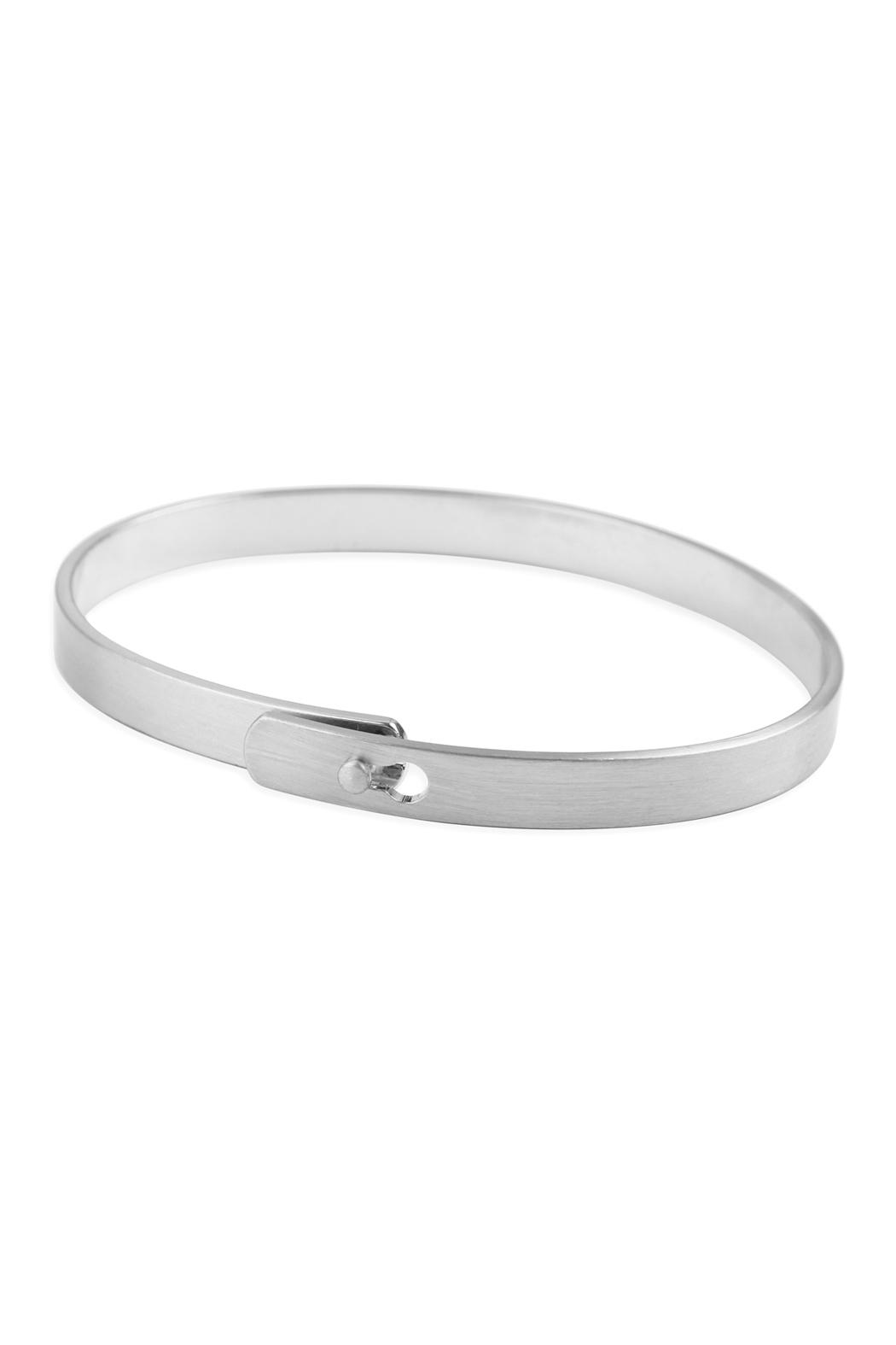 Riah Fashion Blessed-Inspiration Metal-Cuff-Bracelet - Front Full Image