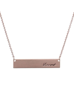 "Shoptiques Product: ""Blessed"" Message-Bar-Necklace"