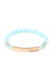 Riah Fashion Blessed Rondelle Beads-Bracelet - Product Mini Image